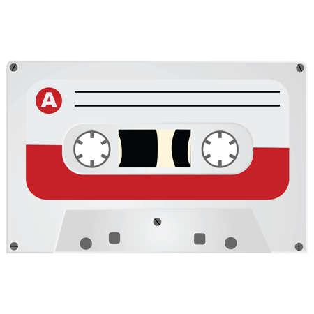 audio: Illustration of a vintage style audio cassette Illustration