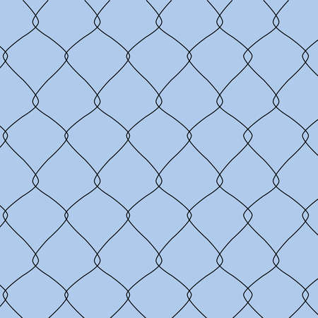Illustration of a closeup of a chain link fence