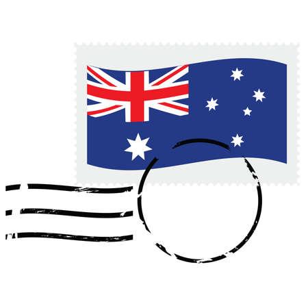 postmarked: Illustration showing a postmarked stamp of Australia