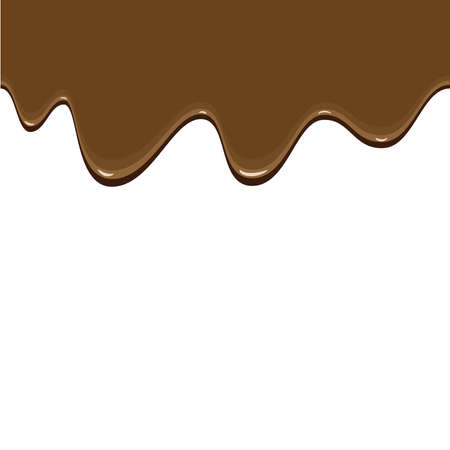 Abstract seamless background showing a melting top of chocolate Vector