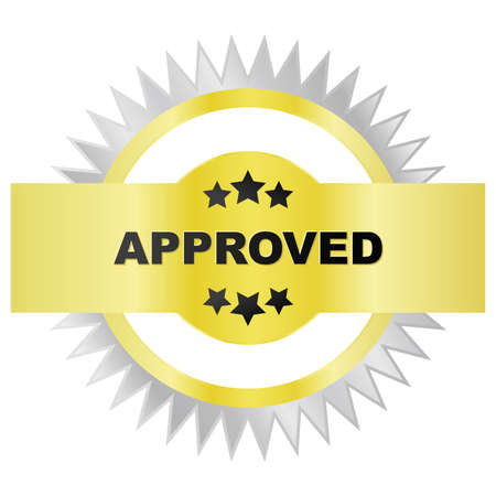 seal of approval: Illustration of a golden and silver seal of approval