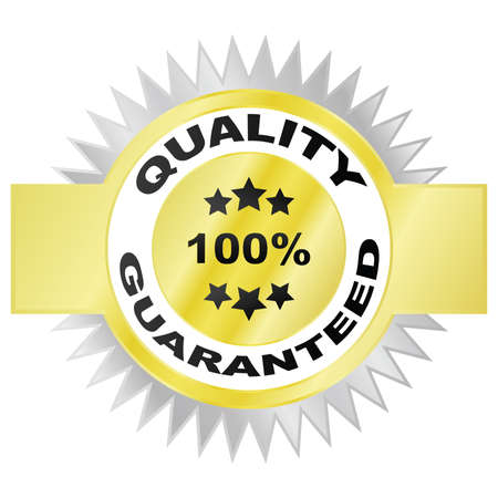 Illustration of a seal guaranteeing the quality of a product