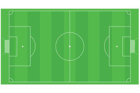 空のフットボール (サッカー) 分野のイラスト  イラスト・ベクター素材