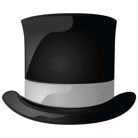 millonario: Ilustraci�n brillante de un sombrero negro y gris