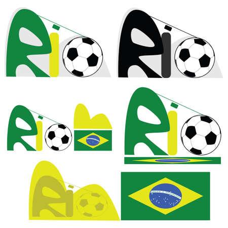 janeiro: Concept illustration for the city of Rio de Janeiro, in Brazil