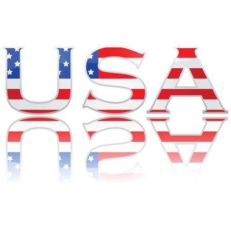 Concept illustration showing the United States flag within the letters USA Stock Vector - 9473889