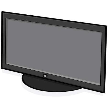 set de television: Ilustraci�n animada de una serie de televisi�n de alta definici�n