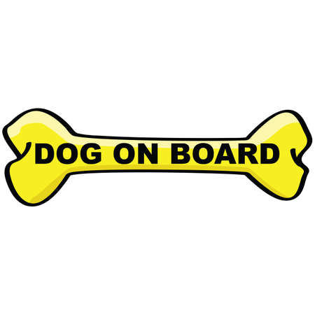 dead dog: Cartoon sign showing a bone with the words