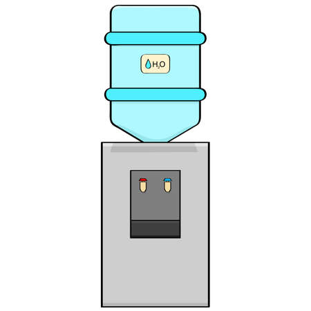 cooler: Cartoon illustration of a portable water cooler Illustration
