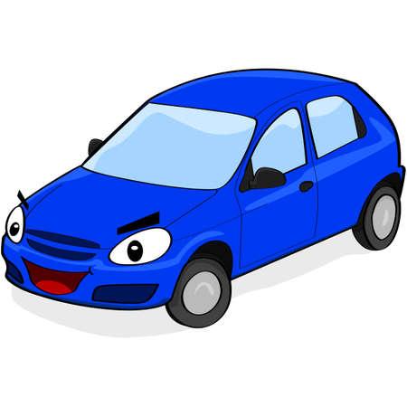 Cartoon Darstellung ein Auto mit einem Gesicht lächelnd Standard-Bild - 18004966