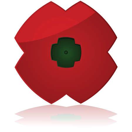 remembrance day: Icona che mostra un papavero, tradizionalmente utilizzata durante Remembrance Day