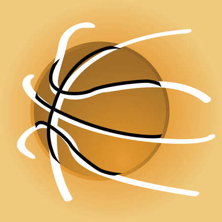 dribble: Concept illustration showing a stylized basketball over a light brown