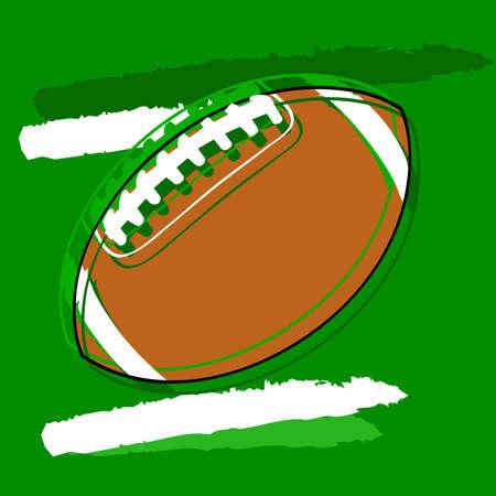 interception: Concept illustration showing a stylized American football Illustration