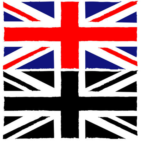 Concept illustration showing a painted Union Jack flag