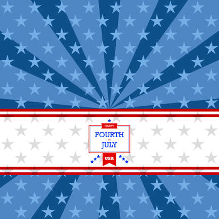 stars background: Background illustration showing stripes and stars with a Happy Fourth of July message Illustration