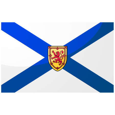 Glossy illustration of the flag of the Canadian province of Nova Scotia