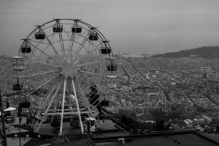 amusement park black and white: Tibidabo I