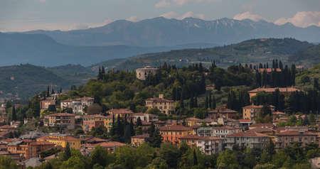 verona: Verona Landscape from Torre dei Lamberti VI Stock Photo