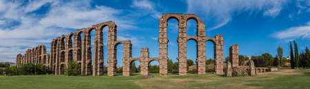 Aqueduct of Los Milagros II Stock Photo