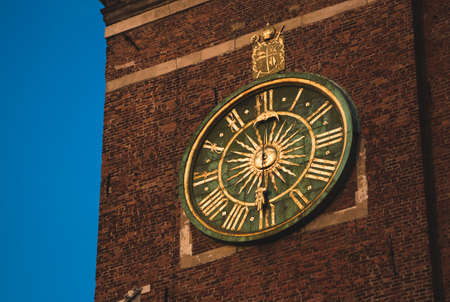 Wawel Cathedral Clock Tower Close-Up