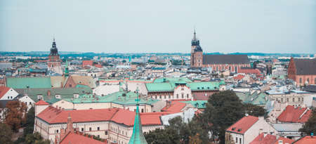 Krakow Skyline and Landmarks