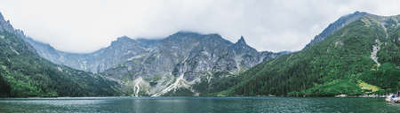A panorama of the Morskie Oko lake in Tatra Mountains.