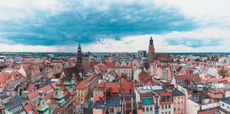 A panoramic view of Wroclaw taken from a vantage point.