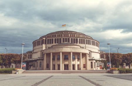 A picture of UNESCOs Centennial Hall in Wroclaw. Stock Photo
