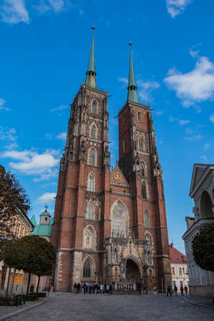 A portrait shot of the Cathedral of St. John the Baptist, Wroclaw.