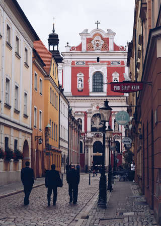 A picture of Świętosławska Street in Poznan, near the Market Square. Editorial