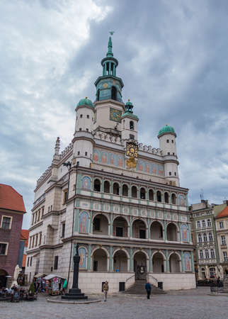 A picture of the Poznan Town Hall in the Market Square. Editorial