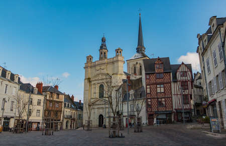 A picture of the Place Saint-Pierre in Saumur.