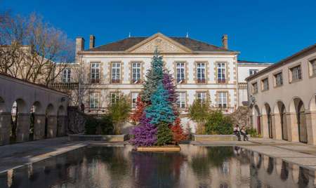 A picture of Bressuires town hall, i.e. H�tel de Ville. Editorial