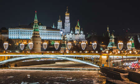 A picture of the Kremlin at night. Editorial