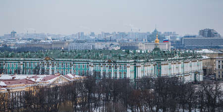 A picture of the Hermitage museum taken from a nearby vantage point.