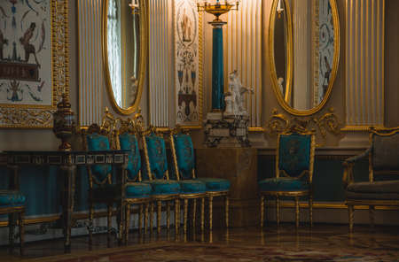 A picgture of a sitting room inside the Catherine Palace. Editorial