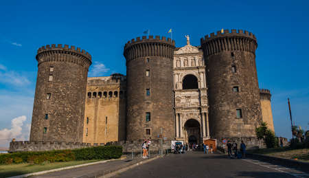 A picture of the main entrance of Castel Nuovo, in Naples.