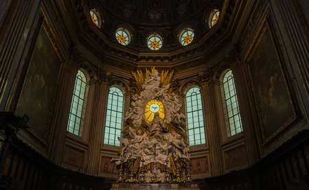 A picture of the altar of the Naples Cathedral.