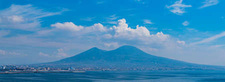 A picture of Mount Vesuvius on a cloudy day.