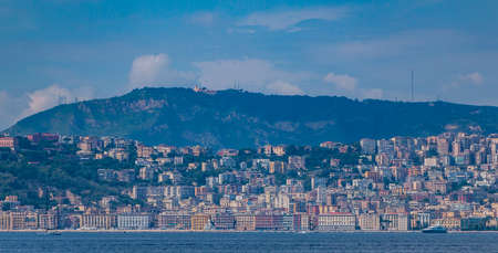 A picture of the Chiaia district taken from a ferry, in the Naples bay. Editorial