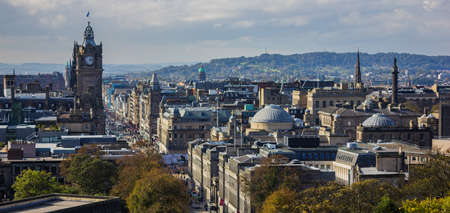 A picture of the rooftops of Edinburgh as seen from the Calton Hill.