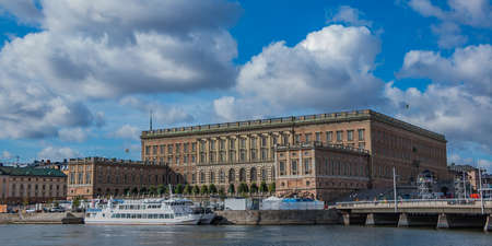A picture of The Royal Palace taken from across the margin. Editorial
