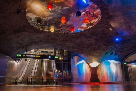A picture of the T-Centralen subway station (Stockholm).