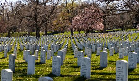 阿灵顿国家公墓的照片。