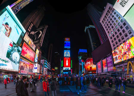 A panorama picture of Times Square. 新闻类图片