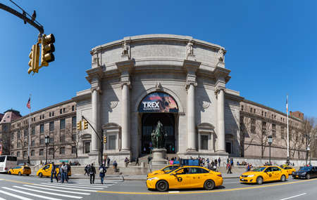 A picture of the main facade of the American Museum of Natural History.