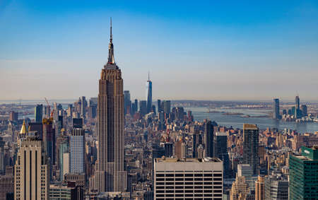A picture of New York as seen from the Top of the Rock. Editoriali