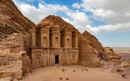 Ein Bild des Ad Deir / Klosters (Petra). Standard-Bild