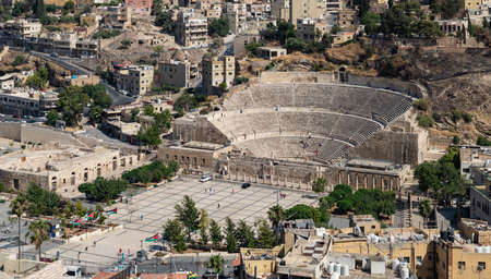 A picture of the Roman Theatre of Amman. Banque d'images