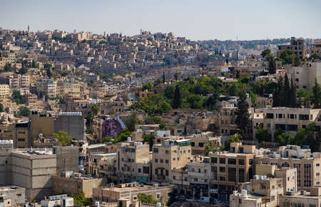 A picture of Amman, showing the west area of the city as seen from the Citadel.